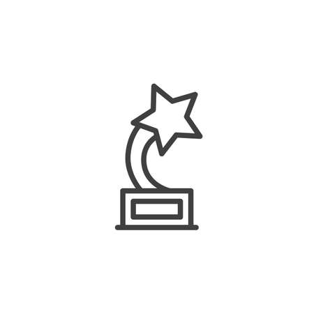 Star award line icon. linear style sign for mobile concept and web design. Champion star trophy outline vector icon. Symbol,  illustration. Vector graphics