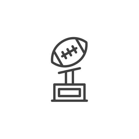 American football cup vector icon. filled flat sign for mobile concept and web design. American football award trophy glyph icon. Symbol,  illustration. Vector graphics Illusztráció