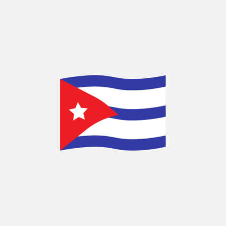Cuba flag colors flat icon, vector sign, Cuba national flag colorful pictogram isolated on white. Symbol,  illustration. Flat style design