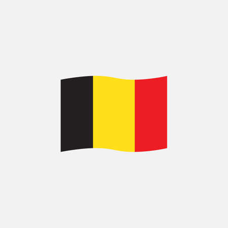 Belgium flag colors flat icon, vector sign, Belgian waving flag colorful pictogram isolated on white. Symbol,  illustration. Flat style design