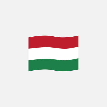 Hungary flag colors flat icon, vector sign, Hungary waving flag colorful pictogram isolated on white. Symbol,  illustration. Flat style design
