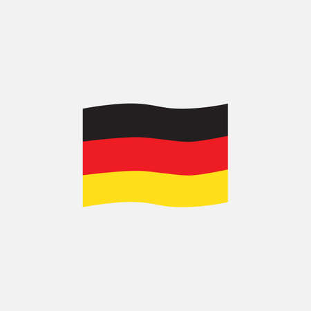 Germany flag colors flat icon, vector sign, Germany waving flag colorful pictogram isolated on white. Symbol,  illustration. Flat style design