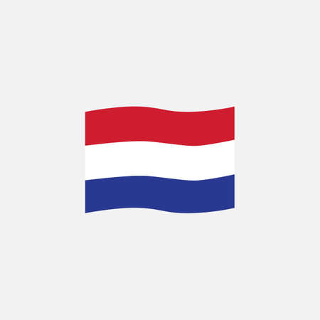 Netherlands flag colors flat icon, vector sign, National Netherlands waving flag colorful pictogram isolated on white. Symbol,  illustration. Flat style design