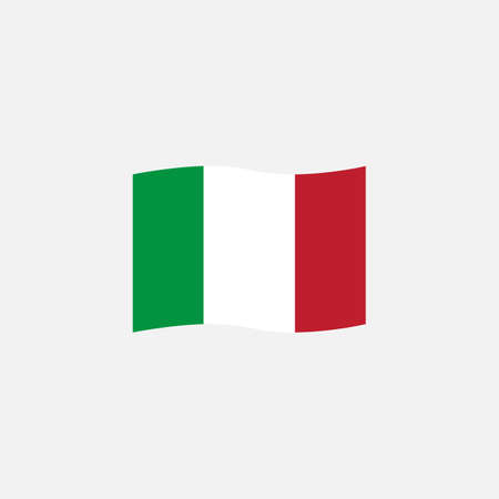 Italy flag colors flat icon, vector sign, waving flag of Italy colorful pictogram isolated on white. Symbol,  illustration. Flat style design