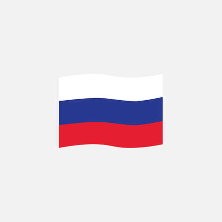 Russia flag colors flat icon, vector sign, waving flag of Russia colorful pictogram isolated on white. Symbol,  illustration. Flat style design Illusztráció