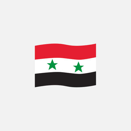 Syrian flag colors flat icon, vector sign, waving flag of Syria colorful pictogram isolated on white. Symbol,  illustration. Flat style design Illusztráció