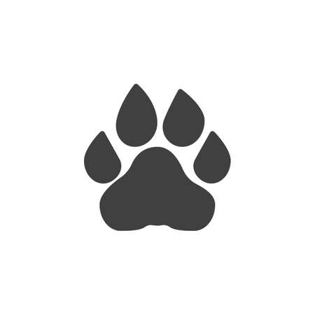 Lion paw print vector icon. filled flat sign for mobile concept and web design. Lion animal footprint glyph icon. Symbol,  illustration. Vector graphics