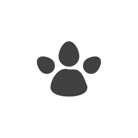 Tapir animal footprint vector icon. filled flat sign for mobile concept and web design. Tapir paw print glyph icon. Symbol, illustration. Vector graphics