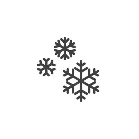 Snowflake vector icon. filled flat sign for mobile concept and web design. Snow flakes glyph icon. Winter symbol,  illustration. Vector graphics