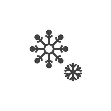 Snow flakes vector icon. filled flat sign for mobile concept and web design. Big and small Snowflake glyph icon. Symbol,  illustration. Vector graphics