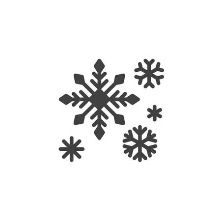 Snowflake decoration vector icon. filled flat sign for mobile concept and web design. Christmas snowflakes glyph icon. Symbol,  illustration. Vector graphics Stock Illustratie