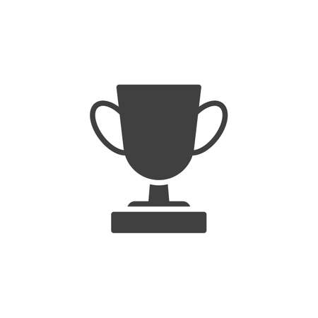 Trophy cup vector icon. filled flat sign for mobile concept and web design. Award cup glyph icon. Symbol,  illustration. Vector graphics