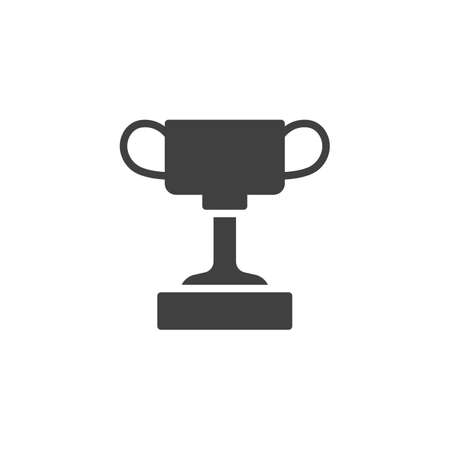 Winner Cup vector icon. filled flat sign for mobile concept and web design. Trophy cup glyph icon. Symbol,  illustration. Vector graphics Stock Illustratie