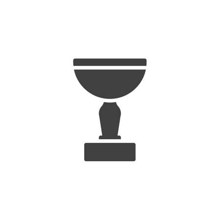 Cup award vector icon. filled flat sign for mobile concept and web design. Cup trophy glyph icon. Symbol,  illustration. Vector graphics