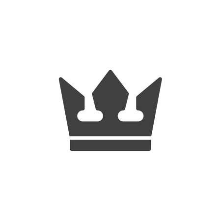 Royal crown vector icon. filled flat sign for mobile concept and web design. Crown glyph icon. Success Winner Reward symbol,  illustration. Vector graphics Stock Illustratie