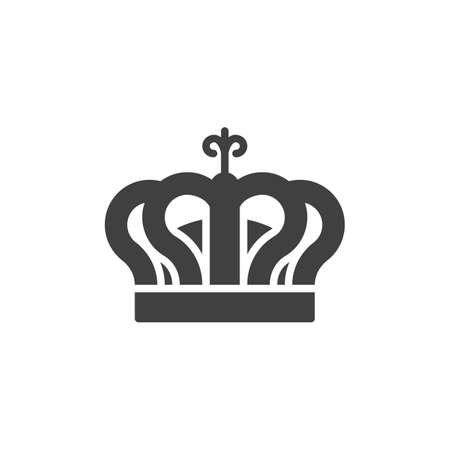 Crown, reward vector icon. filled flat sign for mobile concept and web design. Royal crown glyph icon. Symbol,  illustration. Vector graphics