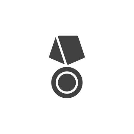 Award badge medal vector icon. filled flat sign for mobile concept and web design. Reward medal glyph icon. Symbol,  illustration. Vector graphics