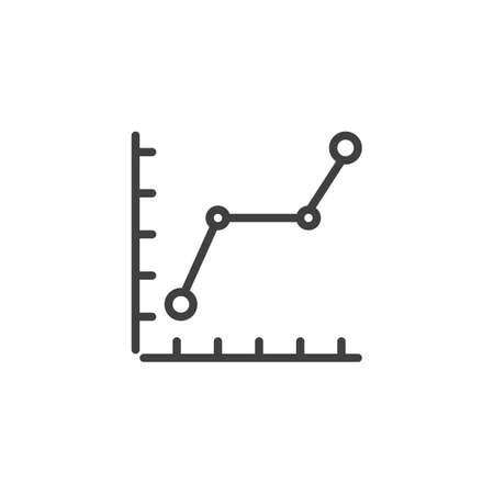 Graph, chart line icon. Statistics chart linear style sign for mobile concept and web design. Financial Diagram outline vector icon. Symbol,  illustration. Vector graphics Archivio Fotografico - 133838829