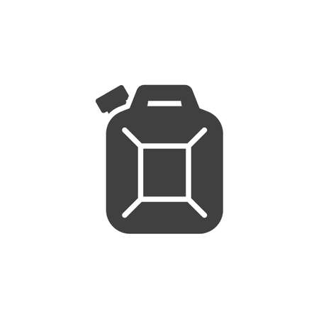 Fuel canister vector icon. filled flat sign for mobile concept and web design. Jerrycan Canister glyph icon. Symbol,  illustration. Vector graphics