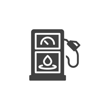 Petrol fuel vector icon. filled flat sign for mobile concept and web design. Gas station glyph icon. Symbol,  illustration. Vector graphics Ilustração