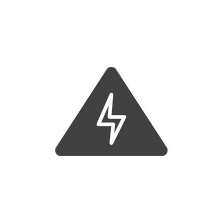 High voltage vector icon. filled flat sign for mobile concept and web design. Electrical hazard warning sign glyph icon. Symbol,  illustration. Vector graphics
