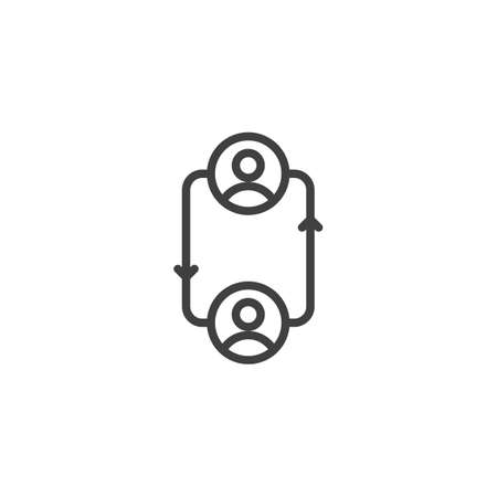 Employee Replacement line icon. linear style sign for mobile concept and web design. Change people outline vector icon. Symbol,  illustration. Vector graphics Ilustrace