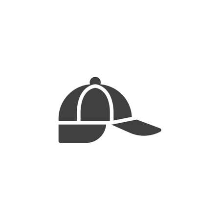 Fisher cap vector icon. filled flat sign for mobile concept and web design. Hiking accessory hat glyph icon. Symbol, logo illustration. Vector graphics