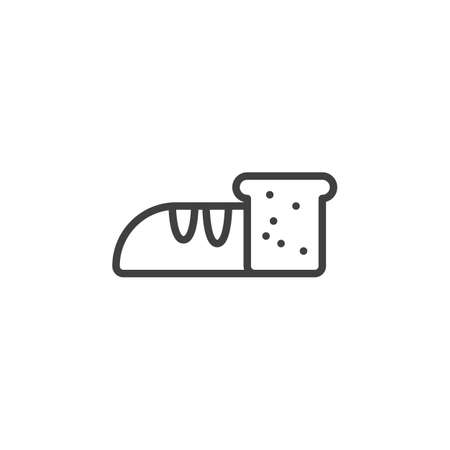 Loaf bread line icon. linear style sign for mobile concept and web design. Toast bread outline vector icon. Symbol, logo illustration. Vector graphics