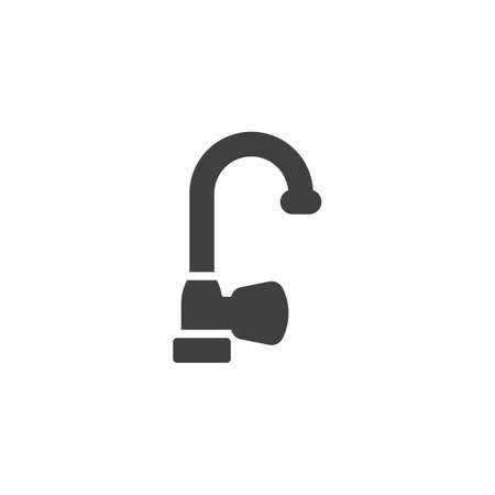 Wasserhahn-Vektor-Symbol. gefülltes flaches Schild für mobiles Konzept und Webdesign. Wasserhahn-Glyphe-Symbol. Symbol, Logoillustration. Vektorgrafiken