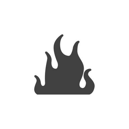 Bonfire flame vector icon. Hot flaming filled flat sign for mobile concept and web design. Fire flame glyph icon. Symbol, logo illustration. Vector graphics