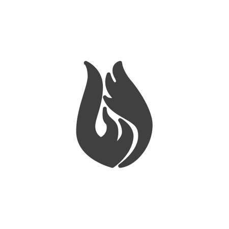 Fire flame vector icon. Bonfire filled flat sign for mobile concept and web design. Hot flaming glyph icon. Symbol, logo illustration. Vector graphics