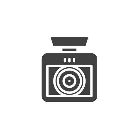 Car drive Video Recorder vector icon. filled flat sign for mobile concept and web design. Car DVR Camera glyph icon. Symbol, logo illustration. Vector graphics