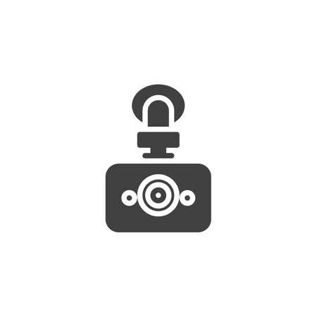 Digital DVR camera vector icon. filled flat sign for mobile concept and web design. Car drive video recorder glyph icon. Symbol, logo illustration. Vector graphics Logo