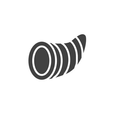 Thanksgiving cornucopia vector icon. filled flat sign for mobile concept and web design. Foto de archivo - 134739910