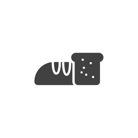 Loaf bread vector icon. filled flat sign for mobile concept and web design. Stock Illustratie