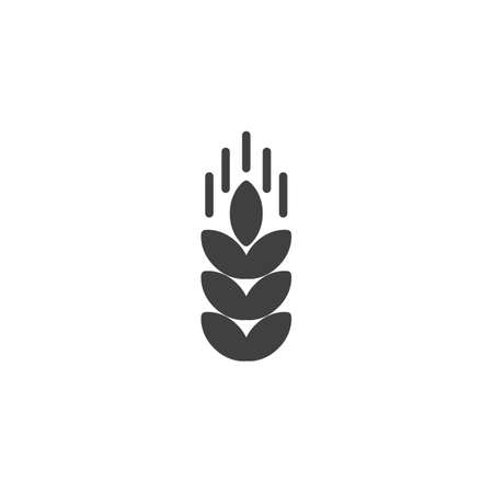 Wheat ear vector icon. filled flat sign for mobile concept and web design. Illustration
