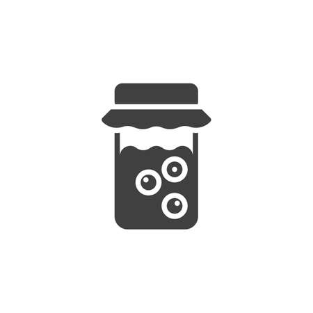 Berry jam jar vector icon. filled flat sign for mobile concept and web design. Ilustracja