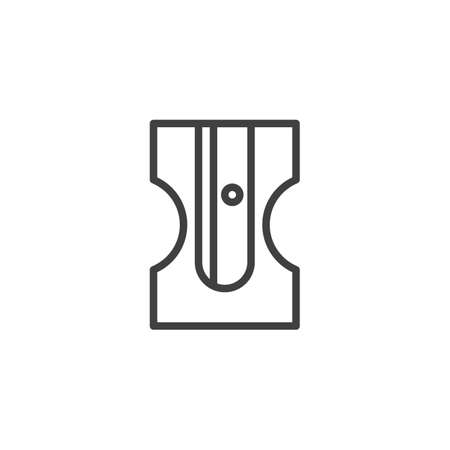 Pencil sharpener line icon. linear style sign for mobile concept and web design. sharpener outline vector icon.