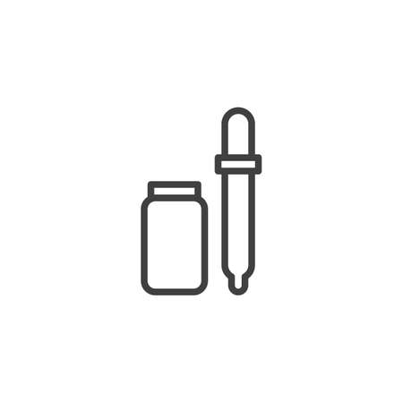Pipette tool line icon. linear style sign for mobile concept and web design. Иллюстрация