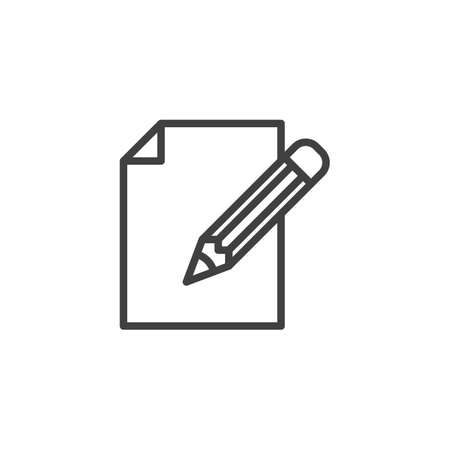 Document edit line icon. linear style sign for mobile concept and web design. Illustration