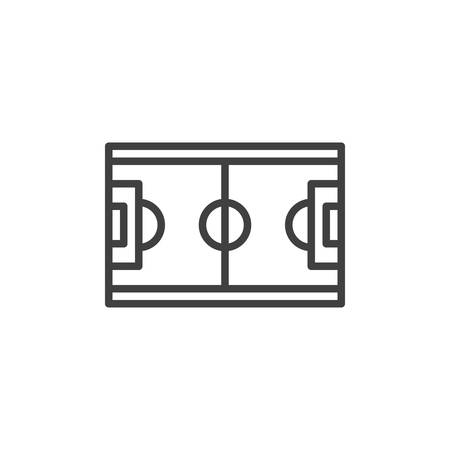 Soccer field line icon. linear style sign for mobile concept and web design. Football field, top view outline vector icon. Symbol, logo illustration. Vector graphics Foto de archivo - 135404916