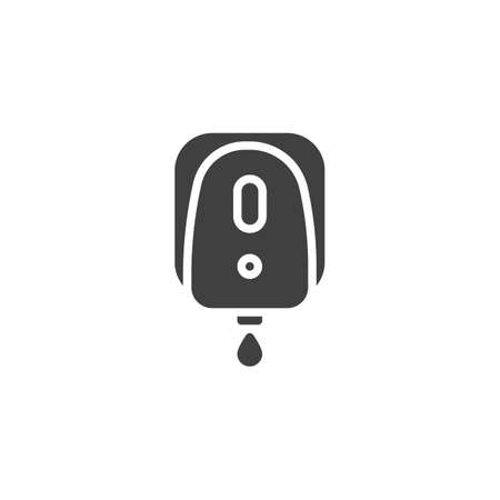 Electrical soap box vector icon. filled flat sign for mobile concept and web design. Automatic soap dispenser glyph icon. Symbol,   illustration. Vector graphics