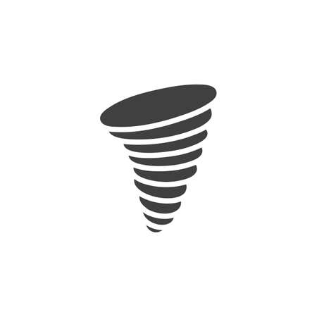Hurricane vector icon. Whirlwind filled flat sign for mobile concept and web design. Tornado Wind, weather glyph icon. Symbol, illustration. Vector graphics
