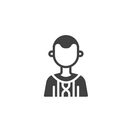Country boy avatar vector icon. Male user filled flat sign for mobile concept and web design. Faceless man portrait glyph icon. Symbol,   illustration. Vector graphics