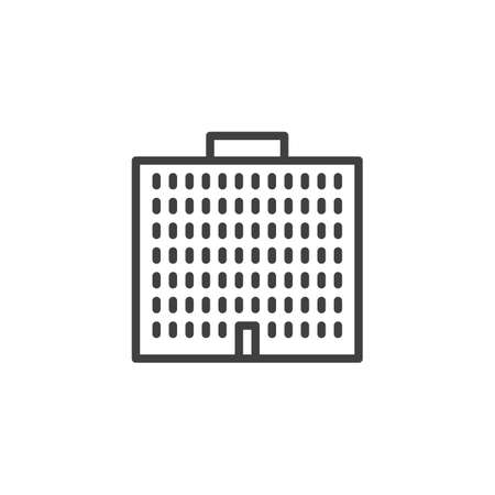 Government Building line icon. linear style sign for mobile concept and web design. Courthouse buildings outline vector icon. Symbol, logo illustration. Vector graphics
