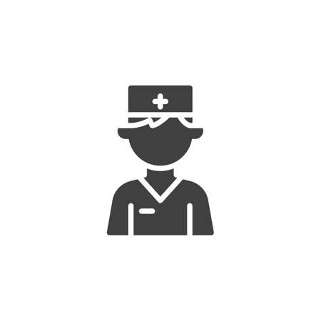 Doctor character vector icon. filled flat sign for mobile concept and web design. Medical doctor avatar glyph icon. Healthcare symbol, logo illustration. Vector graphics Ilustrace