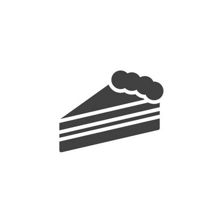 Piece of cheesecake vector icon. filled flat sign for mobile concept and web design. Slice of Cheesecake glyph icon. Symbol, logo illustration. Vector graphics