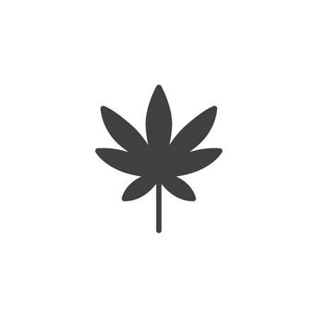 Marijuana leaf vector icon. filled flat sign for mobile concept and web design. Cannabis leaves glyph icon. Symbol, logo illustration. Vector graphics