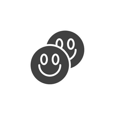 LSD tablets vector icon. filled flat sign for mobile concept and web design. Ecstasy Drug pill glyph icon. Symbol, logo illustration. Vector graphics Ilustração
