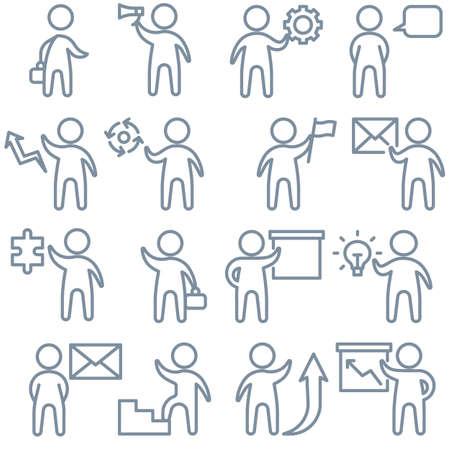 Business people icons pattern. Teamwork people seamless background. Recruitment Seamless pattern vector illustration Illustration